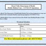 Mobile Medical Unit Schedule